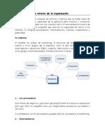 El micro ambiente interno de la organización