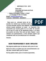 articulo  Nº  05 2011  HIJOS TRIUNFADORES o HIJOS  FRACASADOS