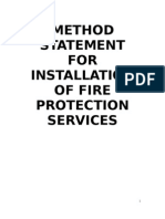 Work Method Statement for Fire Protection