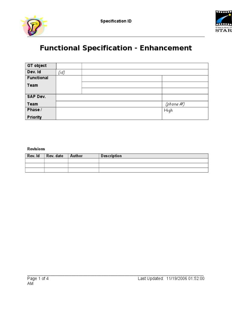 sap functional spec templatedoc
