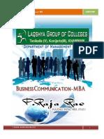 BUSINESS COMMUNICATION LAB MANUAL BY RAJA RAO PAGIDIPALLI