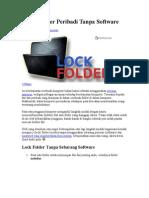 Kunci Folder Peribadi Tanpa Software