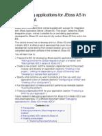 Developing Applications for JBoss as in IntelliJ IDEA