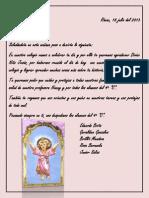 CARTA AL DIVINO NIÑO JESÚS
