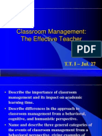 Classroom Management No. 1 - July 27
