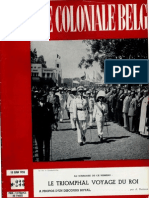 La Revue Coloniale Belge - Le Triomphal Voyage Du Roi - 15 Juin 1955