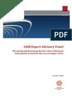 IASB Expert Advisory Panel October 2008 Fair Value Measurment