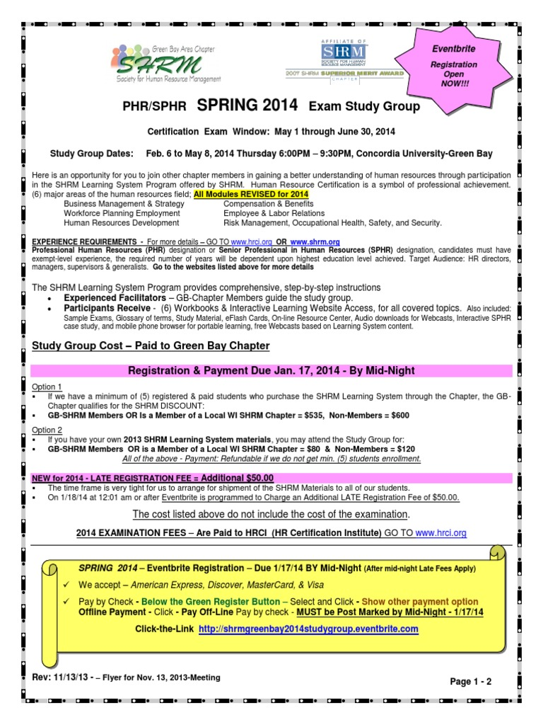Phr sphr spring 2014pdf human resource management business xflitez Image collections