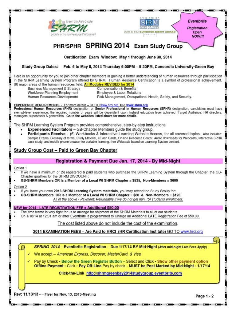 Phr Sphr Spring 2014pdf Human Resource Management Business