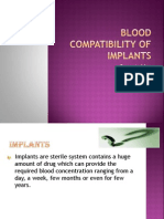 Blood Compatibility of Implants