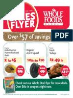 Whole Foods超级市场11月13日到12月3日的优惠