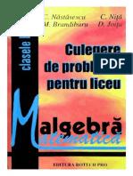 160986025 Algebra Culegere de Probleme Pentru Liceu Clasele IX XII C NASTASESCU C NITA M Brandiburu D Joita