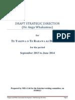 Te Takiwa ki Te Rarawa ki Hokianga Draft Strategic Direction 2013.docx