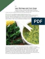 Moringa Corn Soup