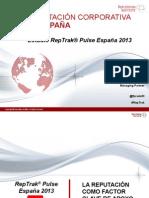 informe prensa_reptrak® pulse españa 2013