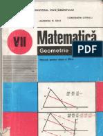 Manual Matematica Geometrie Cls a 7-A Editura Didactica Si Pedagogica