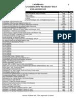 List of Free eBooks on Web Site