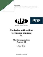Maritime operations environment calcs