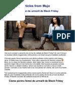Black Friday 2013  - Cizme online la reducere
