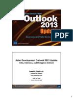 アジア開発銀行駐日代表事務所セミナー「アジア経済見通し2013年改訂版」資料2(インド、インドネシア、フィリピンの経済状況と見通し)