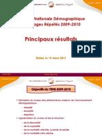 Principaux résultats de l'enquête Nationale Démographique à Passages Répétés 2009-2010