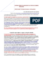 Studiu Stiintific Asupra Periculozitatii Vaccinului Gripei Porcine