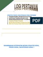 Kul 3. SOSPER. Struktur, Interaksi, Proses Sosial Pertanian.ppt