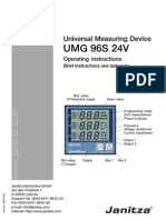 006 UMG96S Manual English - Version With External Power Supply