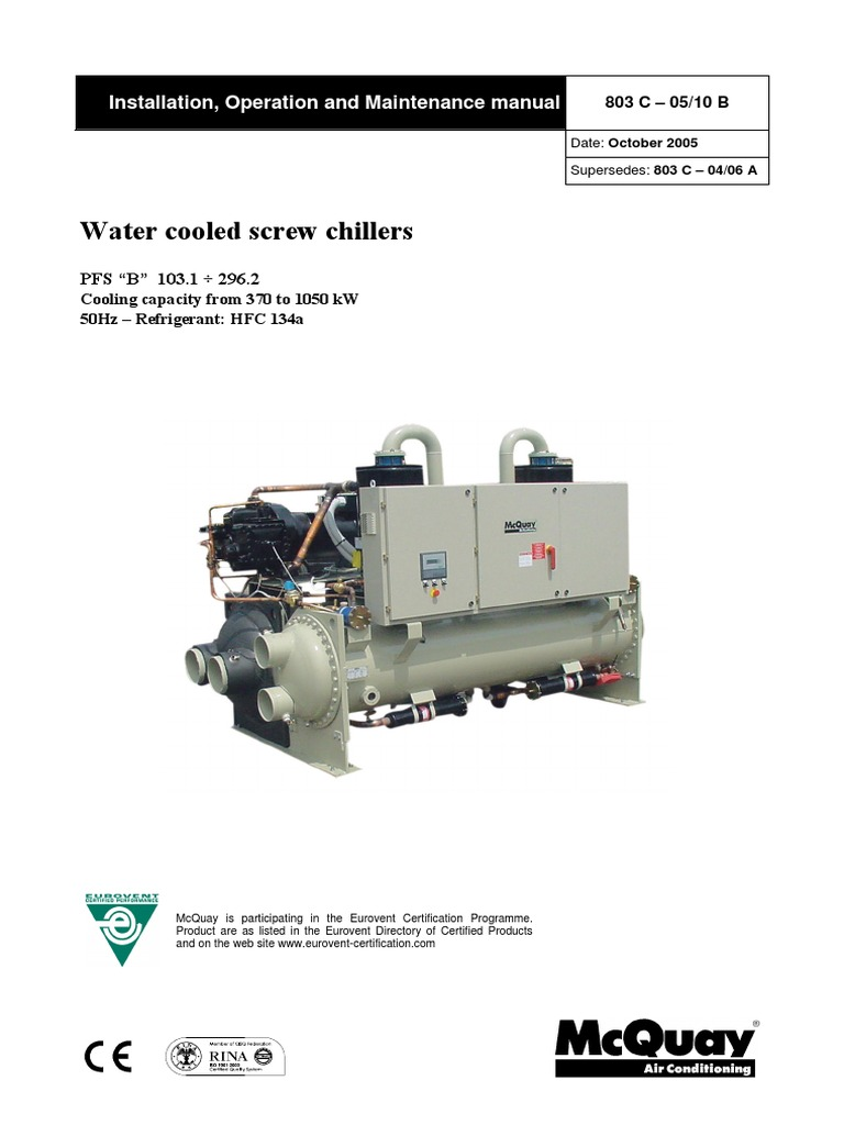 Pfs mcquay manual 01pdf heat exchanger gas compressor cheapraybanclubmaster Image collections