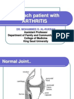 Approach to Pateint With Arthritis