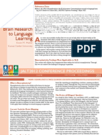 Neuroplasticity in the SLA Classroom: Connecting Brain Research to Language Learning