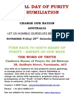 National Day of Purity & Humiliation (Australia Flyer)