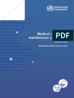 Management - Medical Equipment Maintenance Programme Overview
