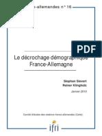 Le Decrochage Demographique France Allemagne