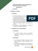 Informe de Evaluacion Del Sistema de Control Interno Mori
