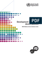 Policy - Development of Medical Device Policies