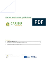 Online Application Guidelines