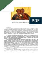 Despre situaţia Postului Sfinţilor Apostoli