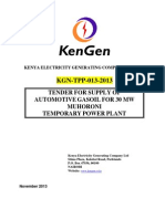 Kgn-tpp-013-2013 Muhoroni 30mw Emergency Thermal Power Plant Automotive Gas Oil Tender 2014