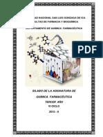 Silabo Quimica Farmaceutica 2013-II