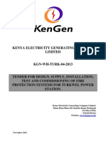 KGN WH TURK 04 2013 Tender for Design, Supply, Installation, Test and Commissioning of Fire Protection Systems for Turkwel Power Station.