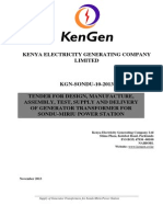 KGN SONDU 10 2013 Tender for Design, Manufacture, Assembly, Test, Supply and Delivery of Generator Transformer for Sondu-Miriu Power Station
