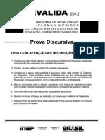 Prova Discursiva_Revalida 2012