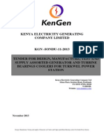 KGN SONDU 11 2013 Tender for Design, Manufacture, Test and Supply Generator and Bearing Coolers (Air & Oil) for Sondu Power Station