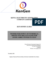 KGN SONDU 12 2013 Tender for Supply of Numerical Protective Relays (I.E.ds) for Sondu-Miriu Power Station