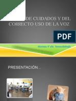 Presentacion Taller Voz