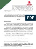 Moción de IU relativa a la bonificación del IBI a familias afectadas por la crisis