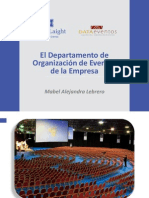 eldepartamentodeorganizacindeeventosdelaempresamabellebrero-130914080356-phpapp01