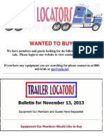 Wanted To Buy - November 13, 2013