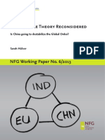 Power Cycle Theory Reconsidered- Is China going to Destabilize the Global Order?